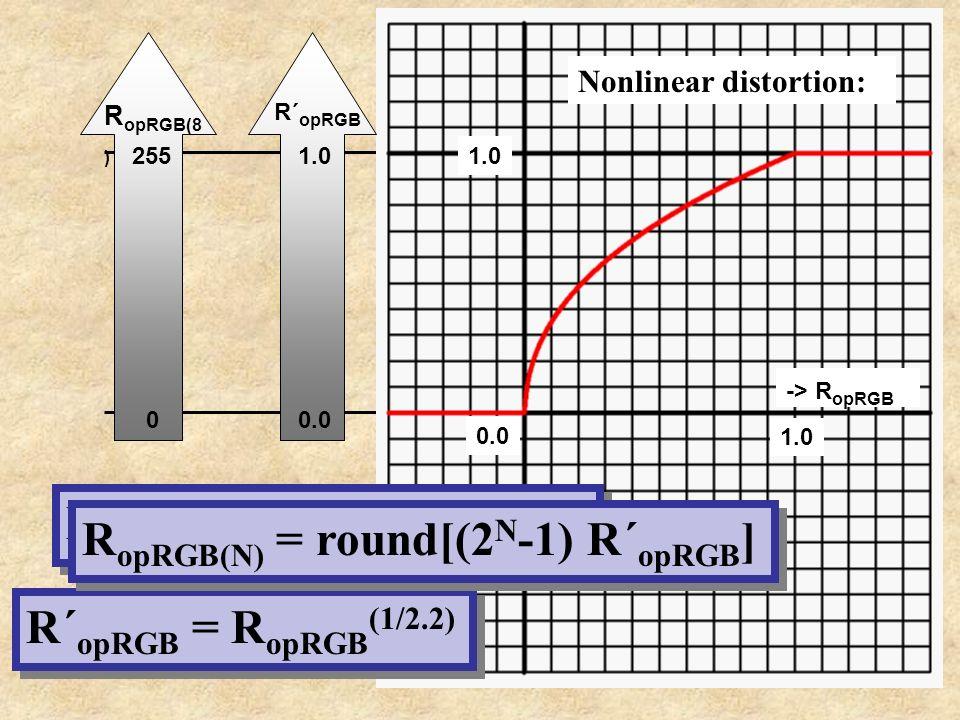RopRGB(N) = round[(2N-1) R´opRGB]
